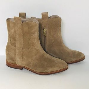 NEW ASH Tan Suede Boots Size 7 NWT